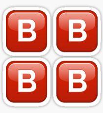 B button emoji sticker pack Sticker
