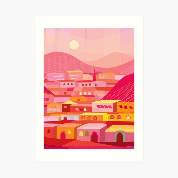 Pueblo at Dusk Art Print