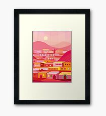 Pueblo at Dusk Framed Print