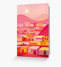 Pueblo at Dusk Greeting Card