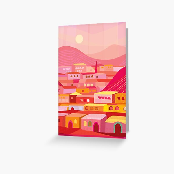Pueblo at Dusk Greeting Card