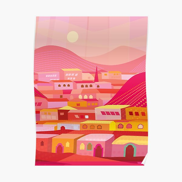 Pueblo at Dusk Poster