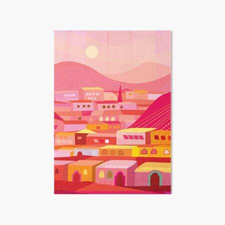 Pueblo at Dusk Art Board Print