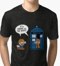 Dr Who - Tardis Doctors chibi Tri-blend T-Shirt