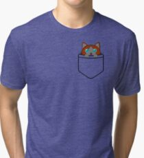 Cat in pocket^3 Tri-blend T-Shirt