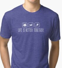 Life Is Better Together Cat White 6 Tri-blend T-Shirt