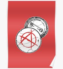 Anarchy Brooch - PUNX NOT DEAD Poster
