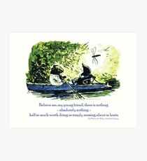 Messing About in Boats Art Print