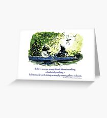 Messing About in Boats Greeting Card