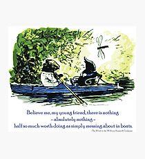 In Booten herumspielen Fotodruck