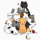 Cat Pyramid Shirt Nette Kätzchen Meow Meow Meow von DoxFox