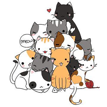 Cat Pyramid Shirt Cute kitties Meow Meow Meow by DoxFox