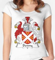 Denny  Women's Fitted Scoop T-Shirt