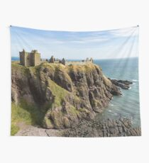 Dunnottar Castle Scotland Postcard Wall Tapestry