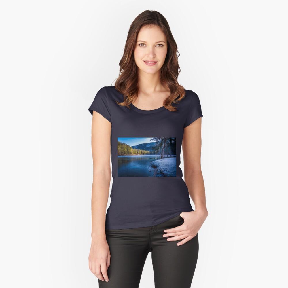 Hinterstoder, Austria Women's Fitted Scoop T-Shirt Front