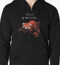 Roter Panda - Faul, Liste zu tun Hoodie mit Reißverschluss
