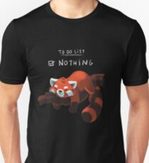 Red Panda - Lazy to do list T-Shirt
