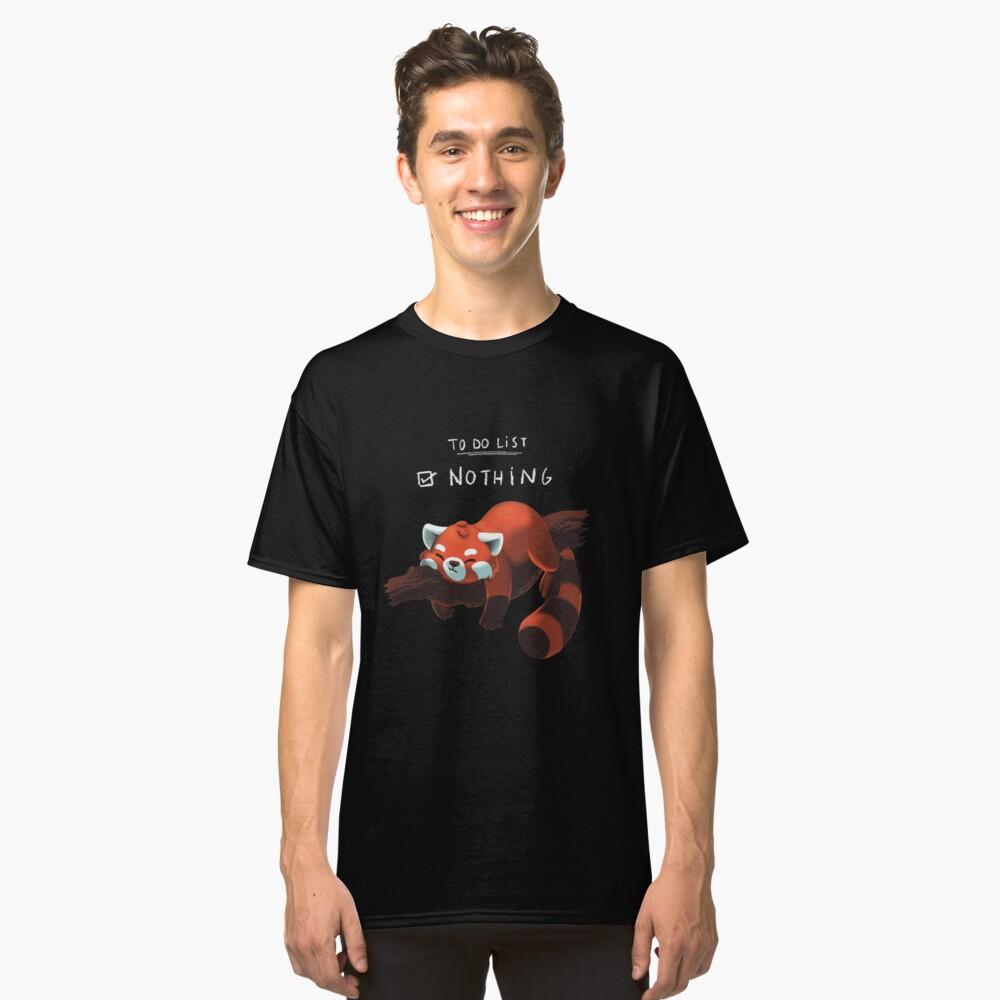 Roter Panda - Faul, Liste zu tun Classic T-Shirt