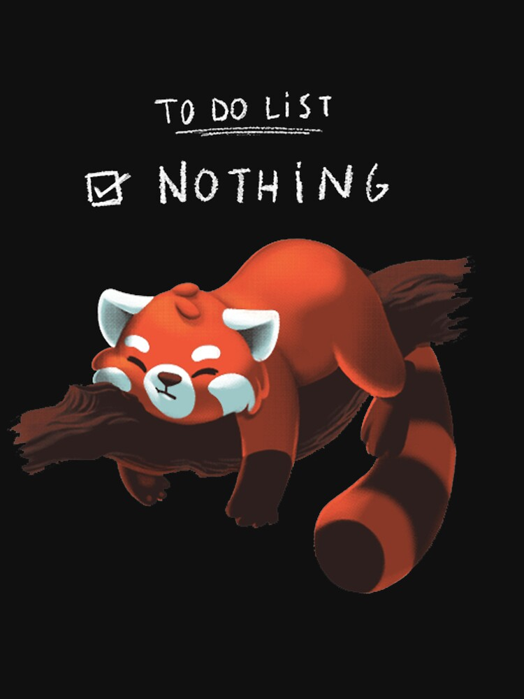 Red Panda - Lazy to do list by DoxFox