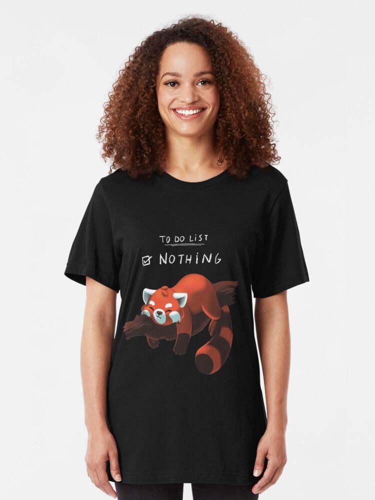 Alternative Ansicht von Roter Panda - Faul, Liste zu tun Slim Fit T-Shirt