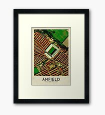 Vintage Football Grounds - Anfield (Liverpool FC) Framed Print