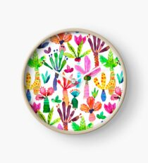 Jungle tropical garden - Fun palms pattern Clock