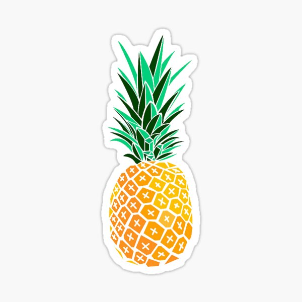 Artsy Pineapple Sticker
