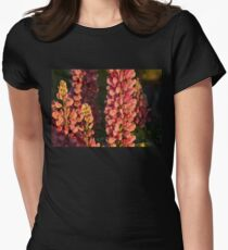 Hot Pink Lupines From My Mother's Garden Womens Fitted T-Shirt