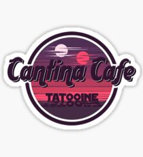 Cantina Band Cafe Tatooine Shirt Sticker