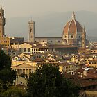 Hot Summer Afternoon in Florence Italy by Georgia Mizuleva