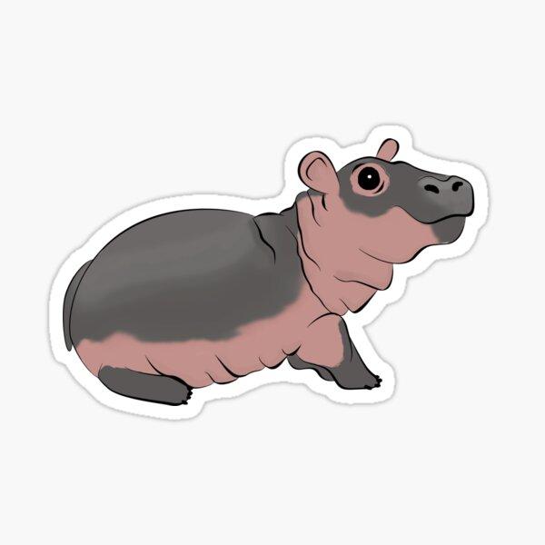 Fiona the Baby Hippo Sticker