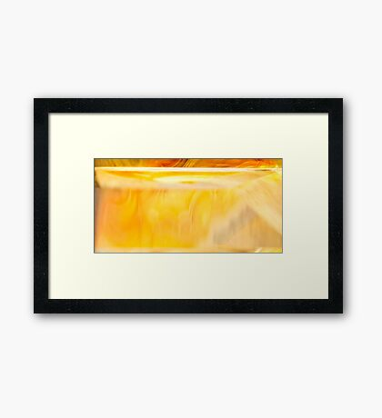 Golden Shadow Framed Print