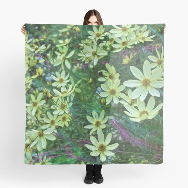 Whimsical Yellow Daisies Scarf