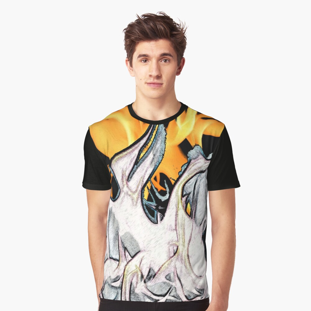 Fire Flames Graphic T-Shirt Front