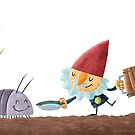 Gnome & Bug by Jeff Crowther