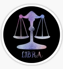 Watercolor Zodiac Libra Sign Sticker