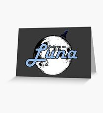 Join Us On Luna Greeting Card