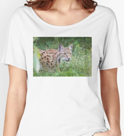 Lynx in the grass Women's Relaxed Fit T-Shirt
