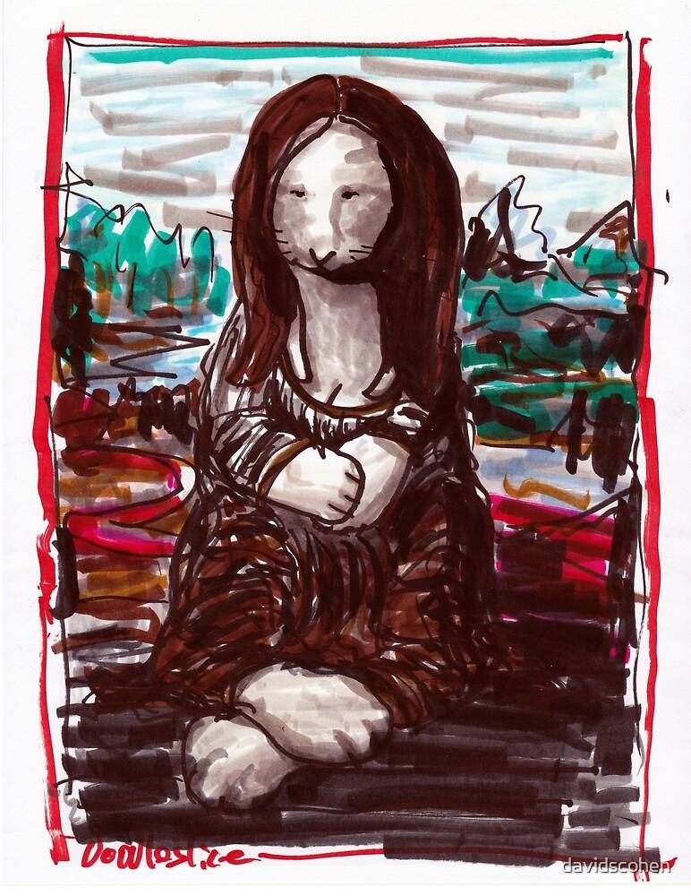 Bunny Lisa funny rabbit version of the Mona Lisa by davidscohen