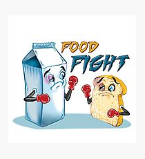 Food Fight Punny Photographic Print