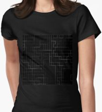 Line Art Womens Fitted T-Shirt
