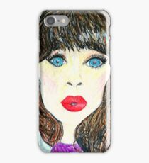 Zoe [Crayon drawing] iPhone Case/Skin