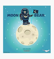 Moon Bear on the Moon Photographic Print
