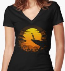 The Circle of Life Women's Fitted V-Neck T-Shirt