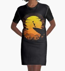 The Circle of Life Graphic T-Shirt Dress