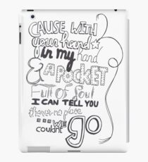 Mirrors Lyric Art iPad Case/Skin