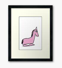 Hobby Horse Unicorn Framed Print