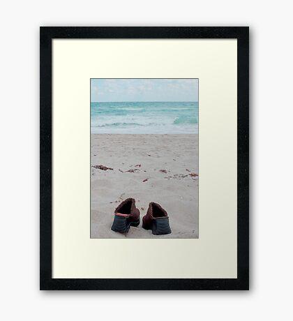 sunning cloggs Framed Print