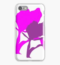 Abstract flower Purple and Pink iPhone Case/Skin