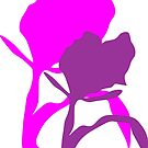 Abstract flower Purple and Pink by schiabor